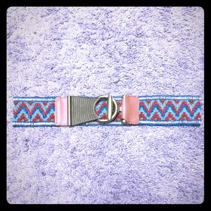 Leather and beaded belt